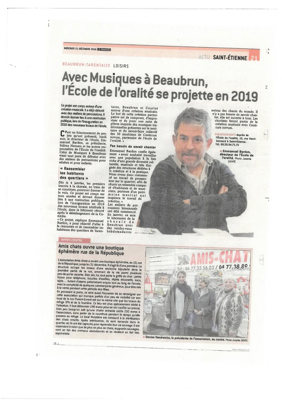 article : Avec Musiques à Beaubrun, l'école de l'oralité se projette en 2019