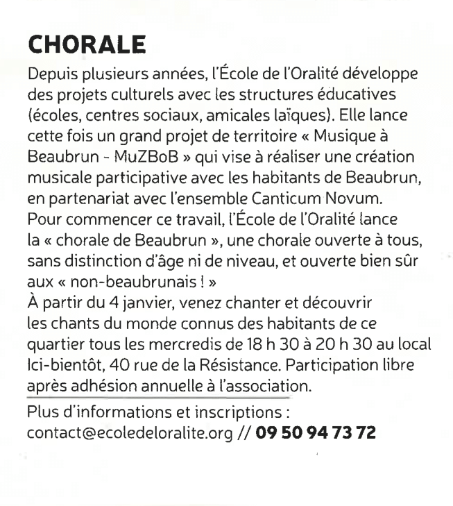 article : Chorale