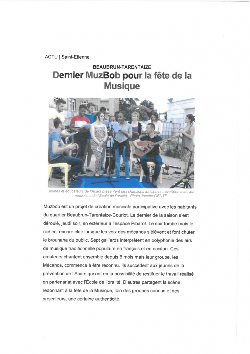 article : Dernier MuzBob pour la fête de la musique